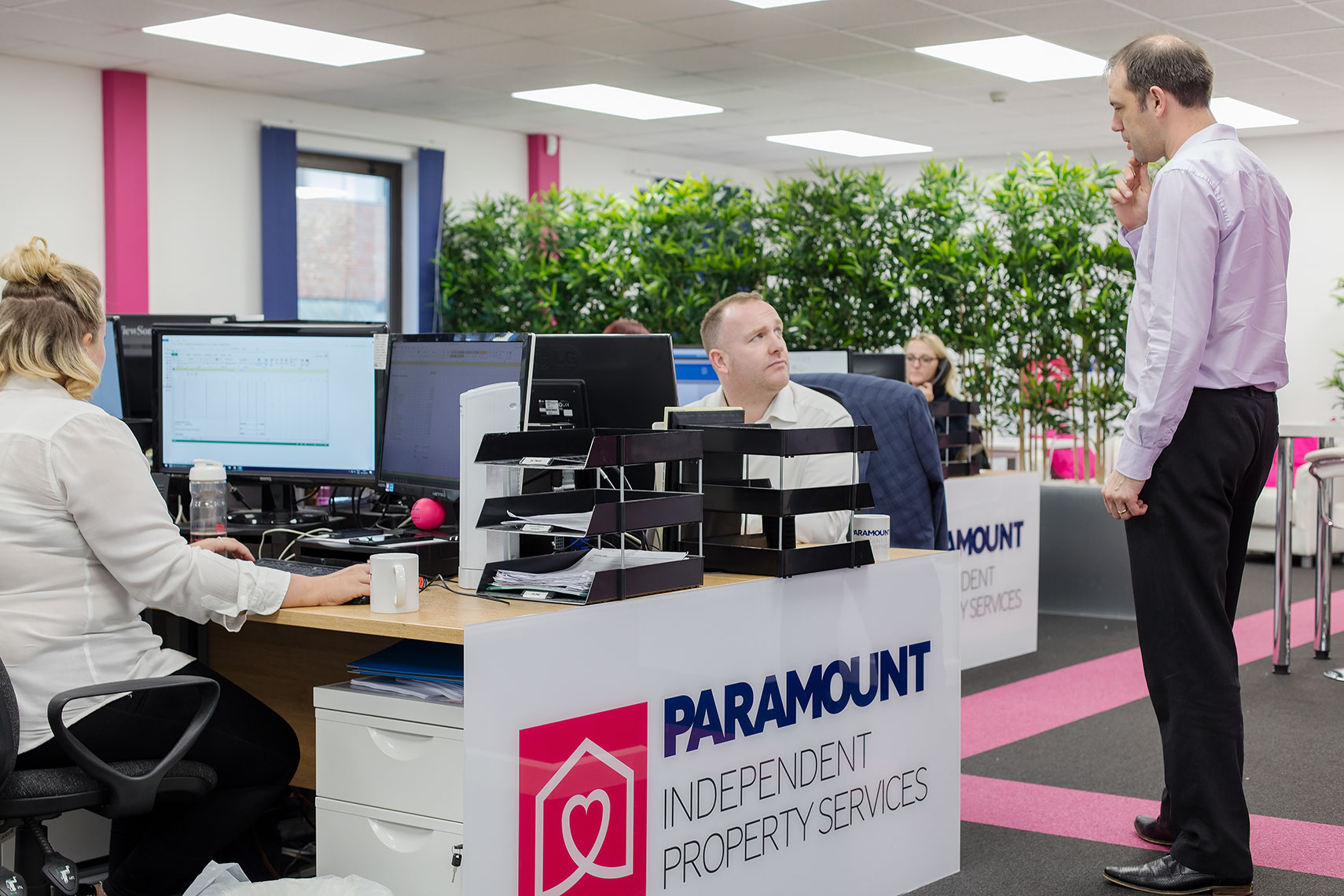 Paramount Property Services Stock Photography office view